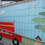 Fiveways Subway Tiling Detail Bus and Trees
