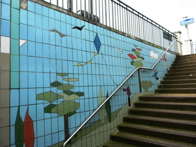 Fiveways Corner Subway - Southbound Steps