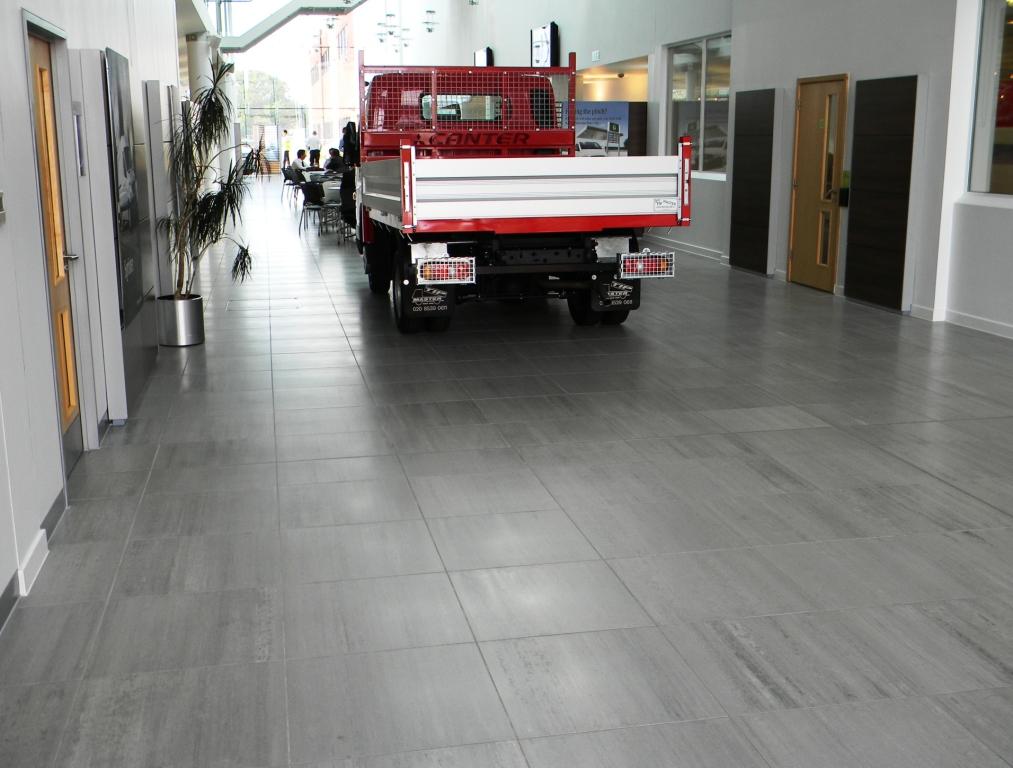 Mbuk main atrium to rear elite tiling ltd for Mercedes benz main office