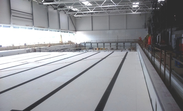 tiling to 50m main pool with moveable floor elite tiling ltd